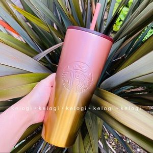 💖NEW💛Starbucks Fall 2020 Rose Gold Ombre Tumbler